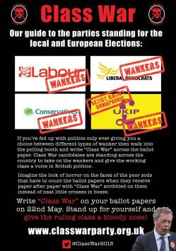 Class War Guide to the Local and European Elections