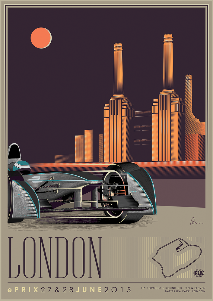 Formual e and the return of the art deco poster trade for Art deco origin